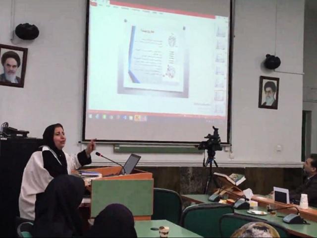 سخنرانی دکتر مهشید رضوی در دانشگاه پرستاری و مامایی